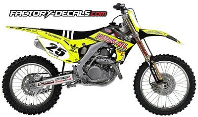 Honda Neon Lucas Oil CRF 250 Graphics Decals Full Kit all years 1990 to present