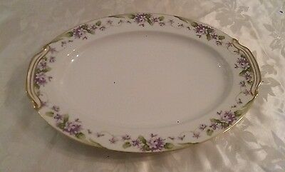 "noritake "" nancy "" large oval plate (5163) excellent condition"