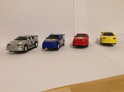 micro scalextric cars X 4