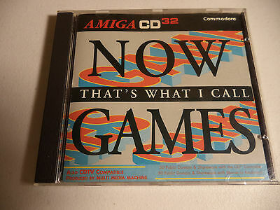 NOW THAT'S WHAT I CALL GAMES Commodore Amiga CD32 & CDTV by Mindscape VG!!