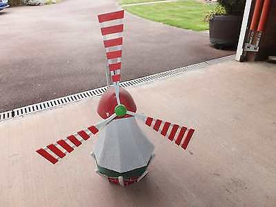 Large Garden Windmill White Green Red Ornament Vanes Decoration Outdoor
