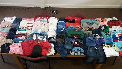Job Lot Kids Baby Boys Girls Used Clothing Some Branded 0 - 9 Years 225+ items