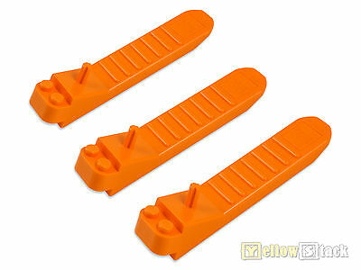 3x LEGO® Steinetrenner Elementetrenner orange brick element seperator 96874