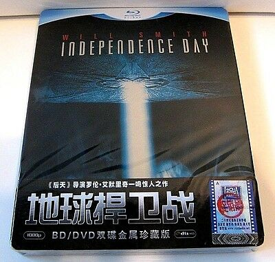 Independence Day from China blu-ray Ironpack.New and sealed.