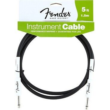 Fender Performance Series Guitar Cable - Black - 5 Ft