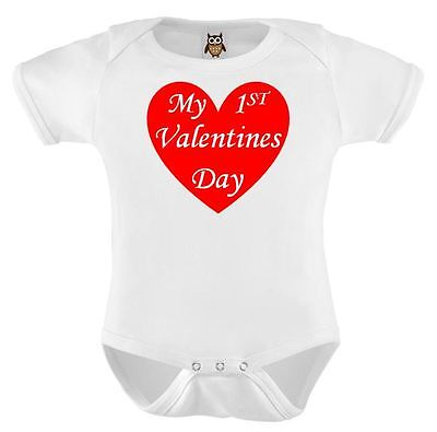 Baby Vest My First Valentines Red Love Heart Baby Bodysuit Cute Valentines Gift