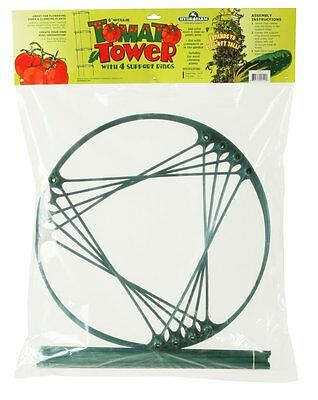 Hydrofarm GCTC 4 Foot Tomato Cage-Modular Tomato Tower with 4 Support Rings
