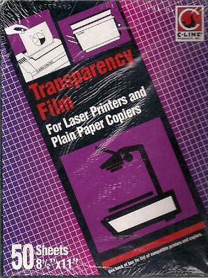 C-Line Transparency Film for Laser Printers and Paper Copiers #60847, NEW/Sealed