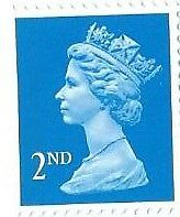 Roll Of 1000 Definitive Unmounted Mint Second 2Nd Class Stamps Value £550