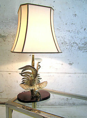 Messing Tischlampe brass table lamp Maison Jansen Hollywood Lampe