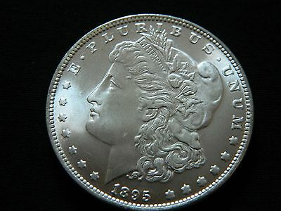 1895 Morgan Dollar Two Face Coin --INV82