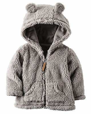 Carters 3 6 9 12 18 24 Months Sherpa Jacket Baby Boy Girl Clothes Cardigan