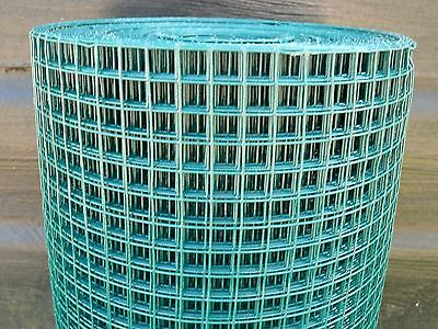 Welded Wire Mesh Roll 0.6x25m Green Plastic PVC Coated Plant Pet Protect Fence