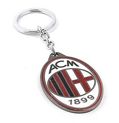 OFFICIAL AC MILAN FC - CREST KEYRINGS KEY RING - Ideal Gift for Football Fans