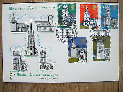 GB 1972 fdc EARLS BARTON village churches British Architecture First Day Cover