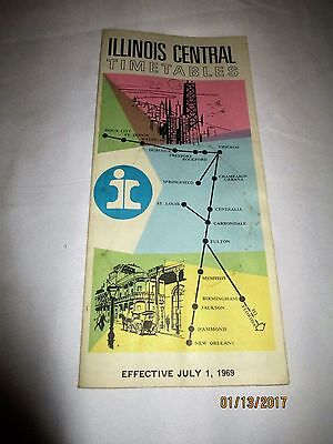 Illinois Central Timetables July 1, 1969