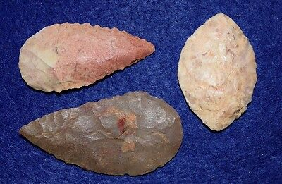 3 nice Sahara Neolithic blades (knife form)