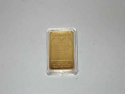 1oz Gold Bar JESUS ON THE CROSS / THE 10 COMMANDMENTS