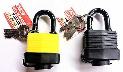 40Mm Waterproof Padlock Heavy Duty With 2 Keys Safety & Security For Outdoor Dw