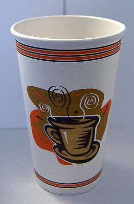 16 oz - 200 Paper Coffee Cup/Disposable Hot Cup  with 200 Cappuccino Lids