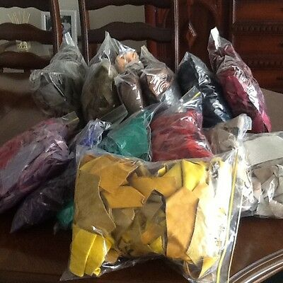 Bags of Soft Scrap Leather Pieces