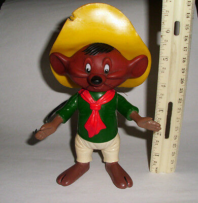 1976 Speedy Gonzales by R Dakin Warner Bro's 6 1/2 Inches Tall Plastic Figure