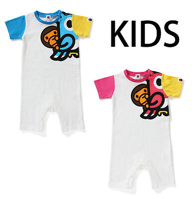 A BATHING APE BAPE KIDS BABY MILO BIRD ROMPERS 2 Colors Baby Gift From Japan New