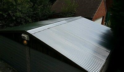 2.4m (8ft) Galvanised metal corrugated roofing sheet tin cladding