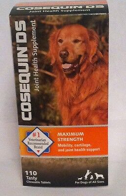 NIB- Nutramax Pets - Cosequin DS - Double Strength -# 110 tab; Exp. 01/2019