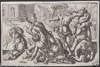 Massacre of the Innocents 16th Century Engraving Old Master Strage Innocenti