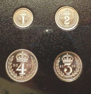 2000 Elizabeth Ii Maundy Set In Original Vip Royal Mint Case