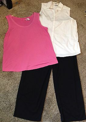 Size Large  Career  Maternity Blouse Top & Pant Lot