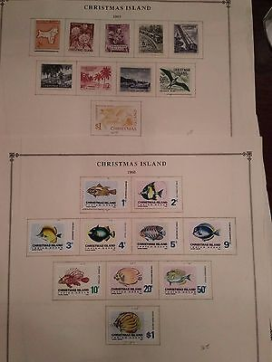 Christmas Island Collection hinged on various album pages