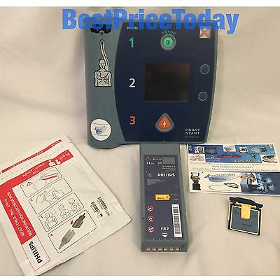 PHILIPS HEARTSTART FR2+ defib AED Battery Card Pads Electrodes Adult Child Plus