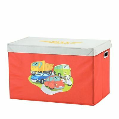 MY NOTE DECO Coffre a Jouets Rouge Voiture XS Trafic