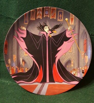 """Notoriouse Disney Villians by Bradford Exchange """"Maleficent"""" Collector Plate"""