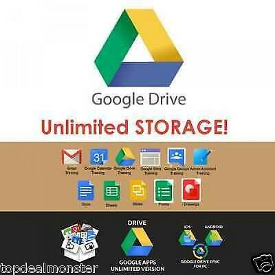 UNLIMITED Google Drive LIFETIME+Secure Fastest Cloud Storage+WORLDWIDE ACCESS