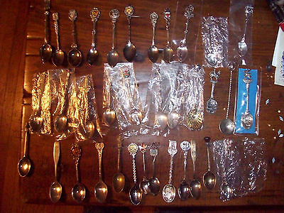 Large Lot of Souvenir Spoons Random lot , vintage and modern