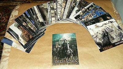 The Lord Of The Rings :The Ruturn Of The Kings Movie Cards Complete Base Set 90.