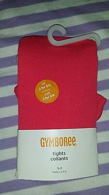 """Gymboree Pink Tights 5-7 Made In USA 42""""-57"""" Height"""