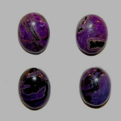 Sugilite Cabochons 8x10mm with 3.5mm dome set of 4 from South Africa  (11702)