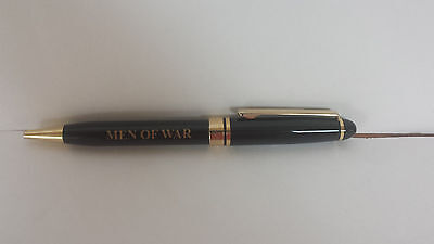 Men of War/Fight to Win Black Pen w/ Gold Accents.  Retracts.  Black Ink.