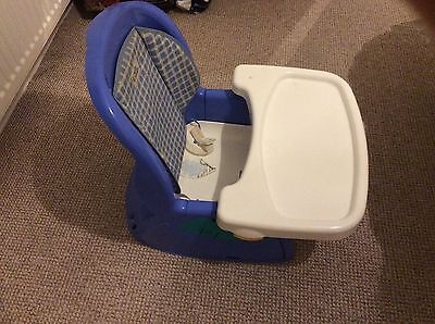 my first years baby / toddler portable feeding chair with tray / harness