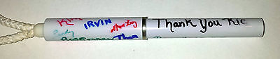 """Cool """"autograph"""" pen.  White pen has been signed to """"Thank You Ric."""""""