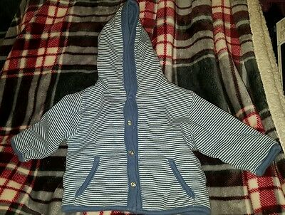hooded striped jacket size 0-3 months %