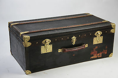 Beautiful Antique French Travel Trunk with Tray