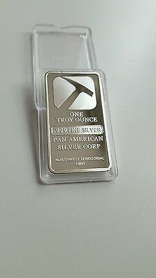 Pan American - .999 Fine Silver Plated Bar One Troy Ounce (42)