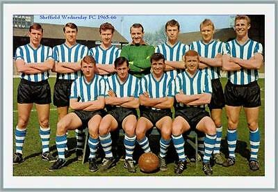 Fridge Magnet Football Sheffield Wednesday 1965-66 Soccer 7 x 4.5cm Bespoked