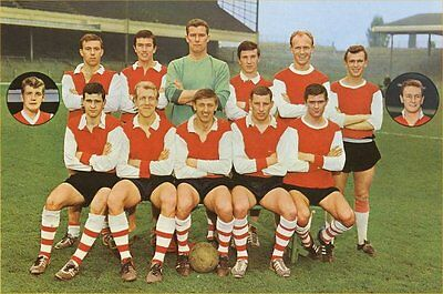 Fridge Magnet Football Arsenal 1964-66 Soccer 7 x 4.5cm Sport Bespoked