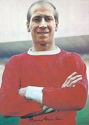 Fridge Magnet Football z Bobby Charlton Man U 7x4.5cm Sports Soccer Bespoked.
